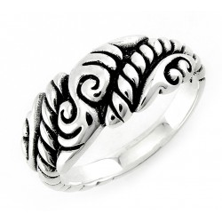 Bali Sterling Silver Oxidized Ring
