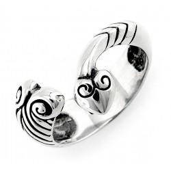 Bali Sterling Silver Snake Ring