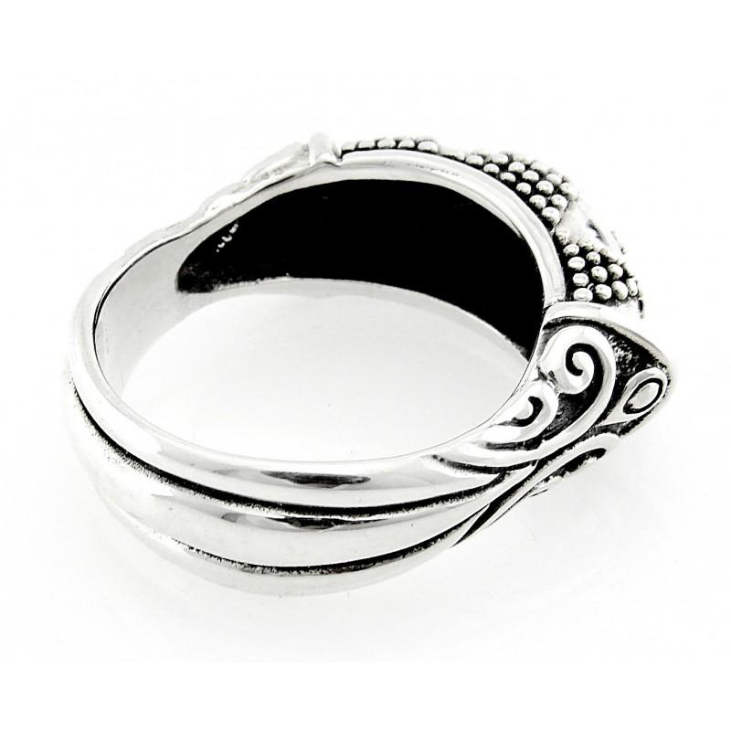 Bali Sterling Silver Ring Unique Design Jewelry Farm