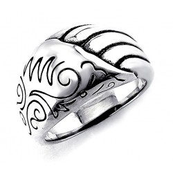 Unique Bali Sterling Silver Ring