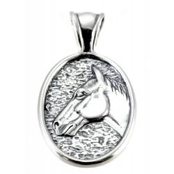 Southwestern Sterling Silver Horse Head Pendant