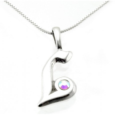 Sterling Silver Initial Pendant W Chain L