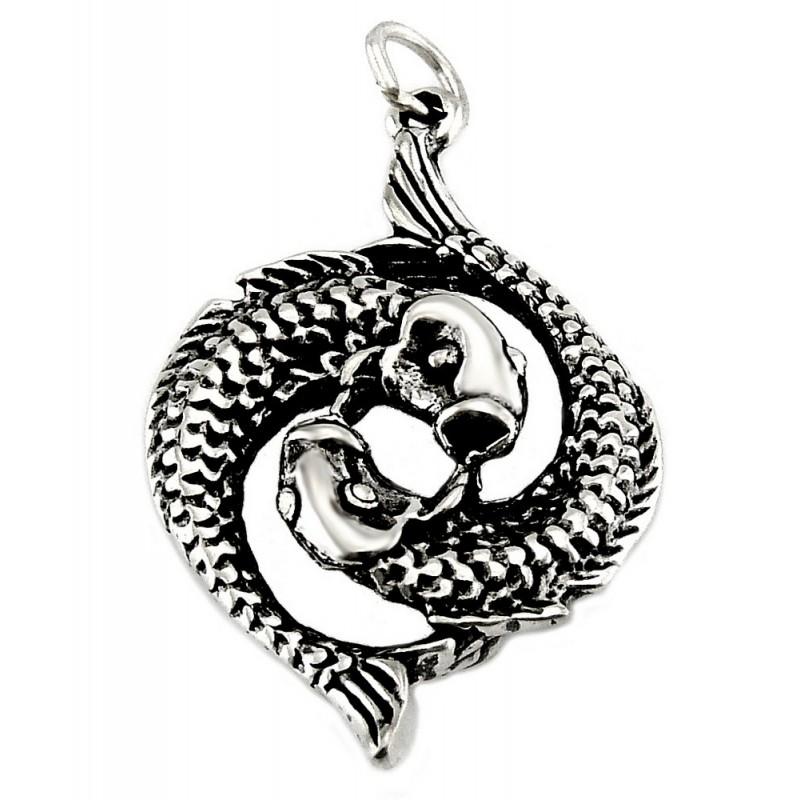 Sterling silver horoscope pendant pisces jewelry sterling silver pisces pendant mozeypictures Choice Image