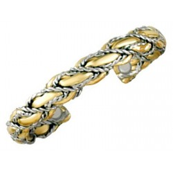 Sergio Lub Magnetic Brass Cuff Bracelet - Anchors Away