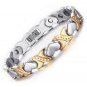 Stainless Steel Magnetic XOXO Heart Bracelet