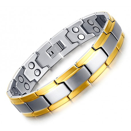 Stainless Steel Magnetic Bracelet Gold Plated