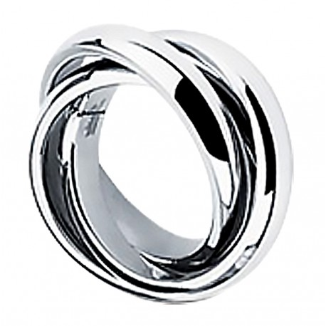 Stainless Steel Triple Band Ring Size 5