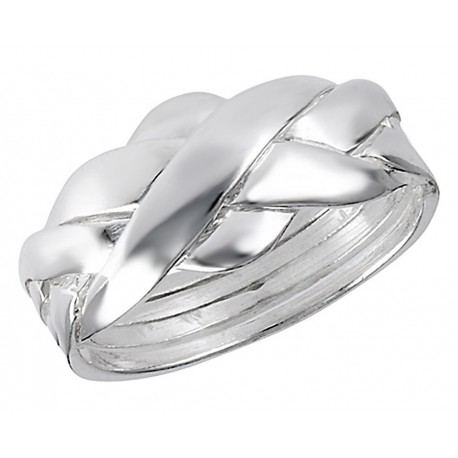 Sterling Silver 4 Piece Puzzle Ring