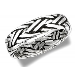Sterling Silver Rope Band Ring