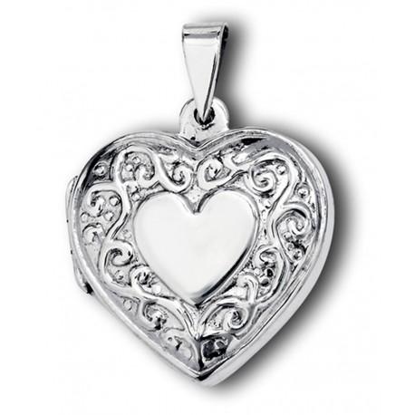 Sterling Silver Victorian Heart Locket
