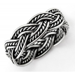 Sterling Silver Weave Band Ring