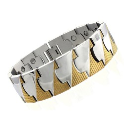 Stainless Steel Men's Magnetic Bracelet Extra Wide