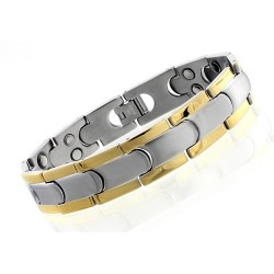 Stainless Steel Men's Magnetic Bracelet Double Magnets