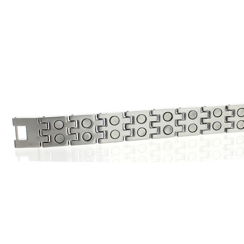 Extra Strength Stainless Steel Magnetic Bracelet Double