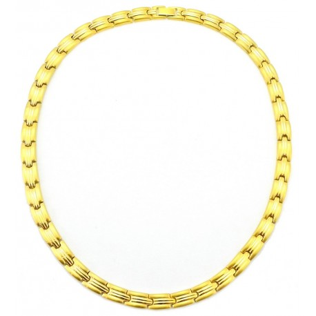 Stainless Steel Magnetic Necklace Gold Plated