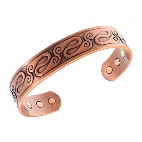 Magnetic Copper Bracelet Celtic Decor