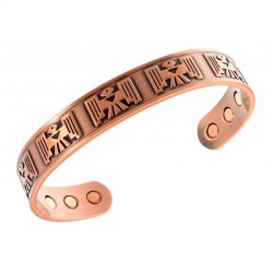 Magnetic Copper Bracelet with Bird