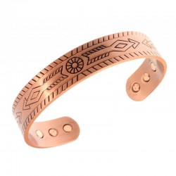 Magnetic Copper Bracelet with Arrow Keys