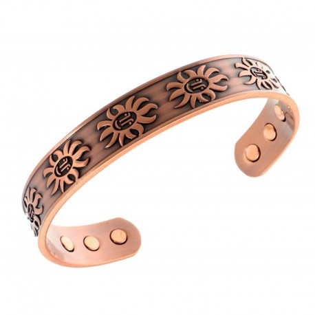Magnetic Copper Bracelet with Sun