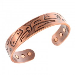 Magnetic Copper Bracelet with Eagles