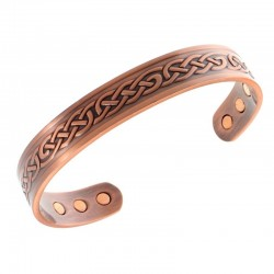 Magnetic Copper Bracelet with Celtic Design