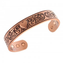 Magnetic Copper Bracelet with Heart