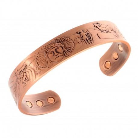Magnetic Copper Bracelet with Southwestern Design