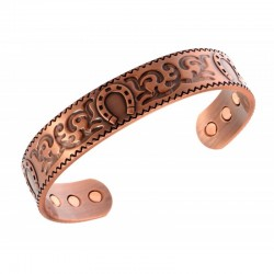 Magnetic Copper Bracelet with Horseshoe