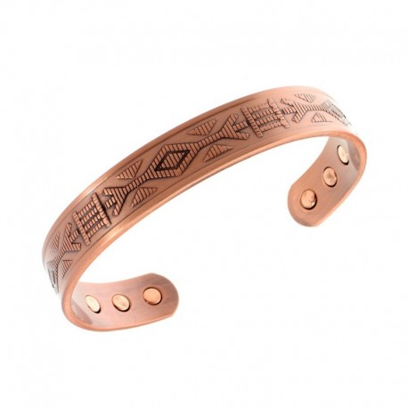 Magnetic Copper Bracelet with Unique Decor
