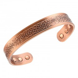 Magnetic Copper Bracelet with Celtic Decor