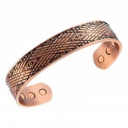 Magnetic Copper Bracelet Antiqued