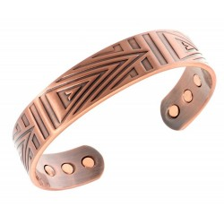 Magnetic Solid Copper Bracelet with Arrow