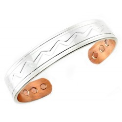 Magnetic Solid Copper Bracelet Silver Plated