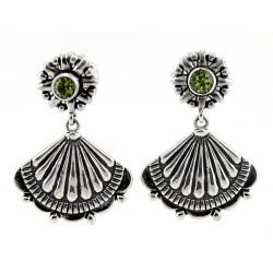Southwestern Sterling Silver Earrings with Peridot