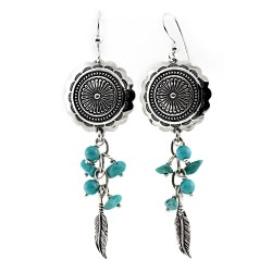 Relios / Carolyn Pollack Sterling Silver Turquoise Dangle Earrings