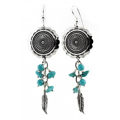 Sterling Silver & Turquoise Dangle Earrings
