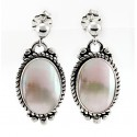 Relios / Carolyn Pollack Sterling Silver Mabe Shell Earrings