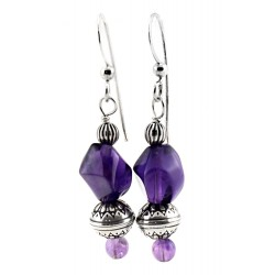 Relios / Carolyn Pollack Sterling Silver Earrings with Amethyst