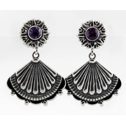 CP Signature Carolyn Pollack Sterling Silver Earrings w Amethyst