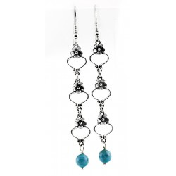 Relios / Carolyn Pollack Sterling Silver Dangle Earrings with Turquoise