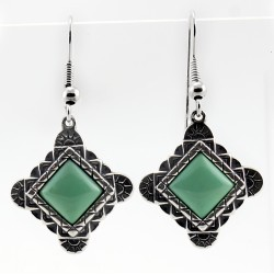 Relios / Carolyn Pollack Sterling Silver Southwestern Earrings with Turquoise