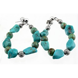 Relios / Carolyn Pollack Sterling Silver Turquoise Nugget Earrings
