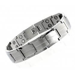 Extra Strength Stainless Steel Magnetic Bracelet Double Magnets