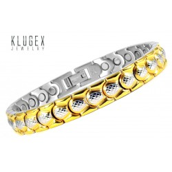 Extra Strength Stainless Steel Magnetic Bracelet Gold Plated