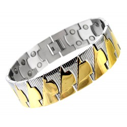 Extra Strength Extra Wide Stainless Steel LIKE Magnetic Bracelet