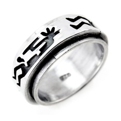 Sterling Silver Spinner Ring with Kokopelli