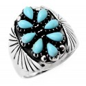 Sterling Silver Southwestern Ring with Turquoise