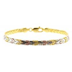 Vermeil Sterling Silver Bracelet 7 Inch Long