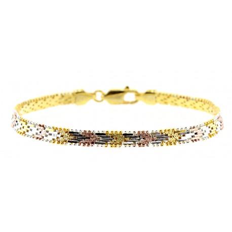 Vermeil Sterling Silver Bracelet 8 Inch