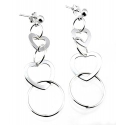 Sterling Silver Hearts Earrings